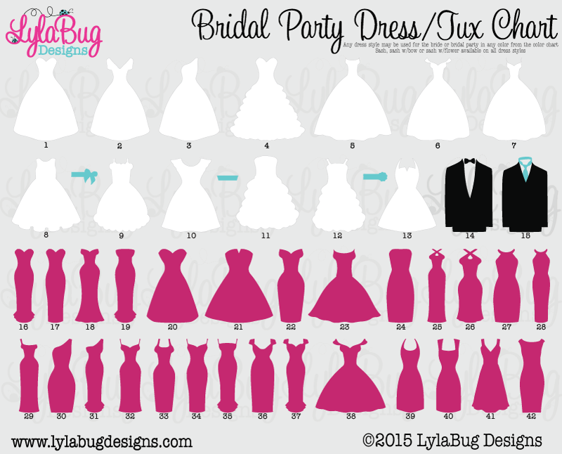 Wedding Dress Styles Chart Dresses